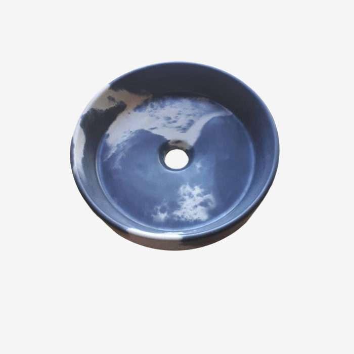 Круглая раковина из бетона